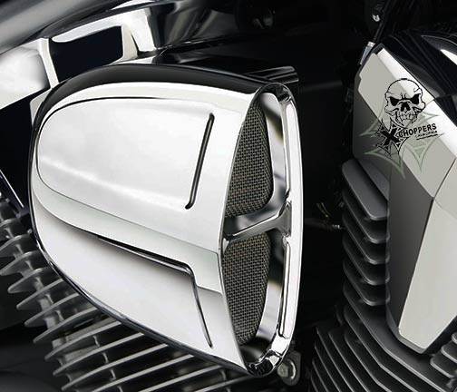 Cobra PowrFlo Chrome Air Intake - Fury, VT1300 Sabre, Stateline,