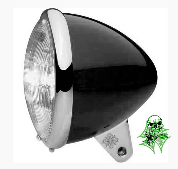 Headwinds Black 5 3/4in. Bullet Headlight Housing