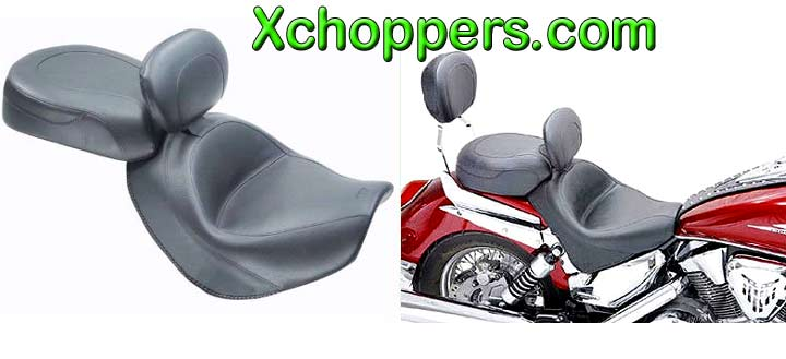 Mustang Vintage Seat with Driver Backrest - Honda VTX 1300R/S/T