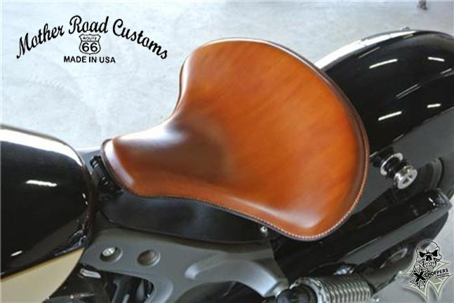 2015-2016 Indian Scout Spring Tractor Seat 15x14 Des Tan Leather