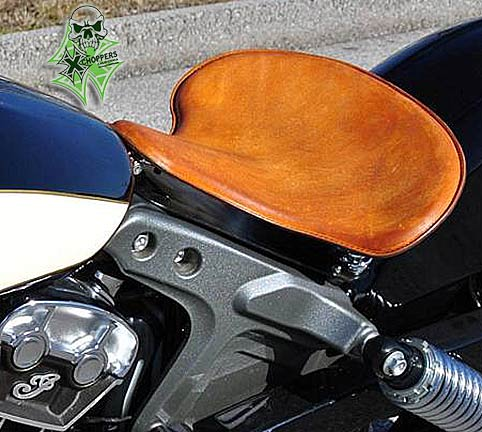 Mother Road Customs  '15 Indian Scout Spring Solo Seat - Tan