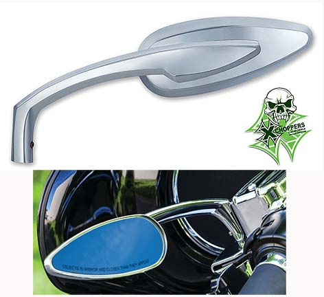 Kuryakyn Chrome Teardrop Mirrors - pair 1 R/H, 1 L/H