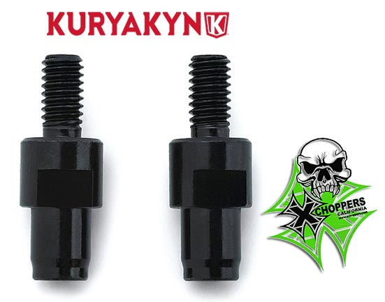 Kuryakyn Black Mirror Adapters (Pair) - Triumph