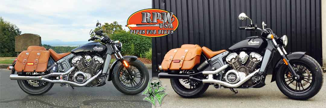 RPW INDIAN SCOUT 2into1 SLIP ON MUFFLER IN-201