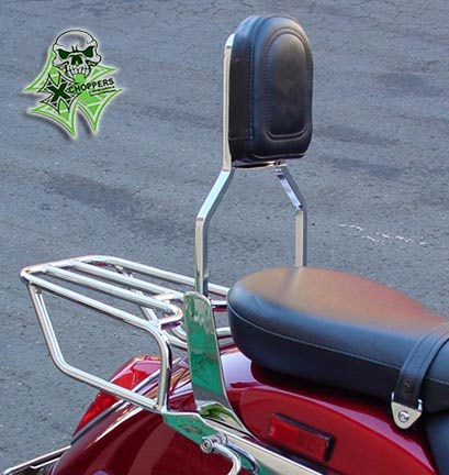MC Enterprises Sissy Bar W/ Plain Pad - VTX1300R/S/T