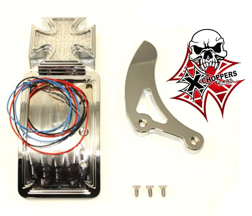 Chrome Curved Tail Lamp Kit Maltese Type - Shock Bolt Mtg.