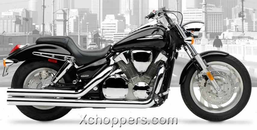 Hard Krome 3 Inch Big Straights - Chrome - VTX1300C