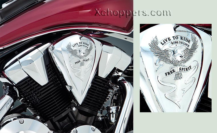 """Live To Ride"" Air Cleaner Cover - Fury & All VT1300"