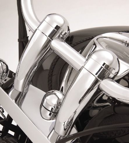 Big Bike Parts - 4 in. Domed Handlebar Risers