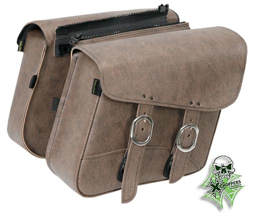 Willie & Max Revolution Brown Large Slant Saddlebags