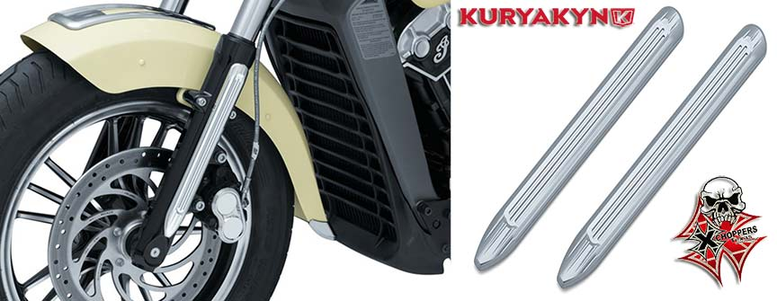 Kuryakyn Legacy Lower Leg Accents for Indian Scout, Chrome