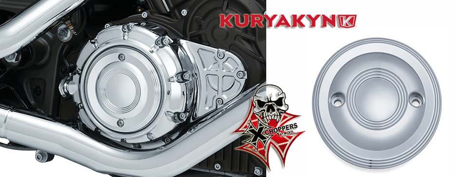Kuryakyn Legacy Clutch Cover Accent for Indian Scout, Chrome