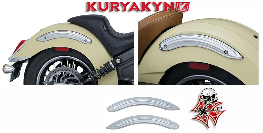Kuryakyn Legacy Rear Fender Side Accents for Scout, Chrome