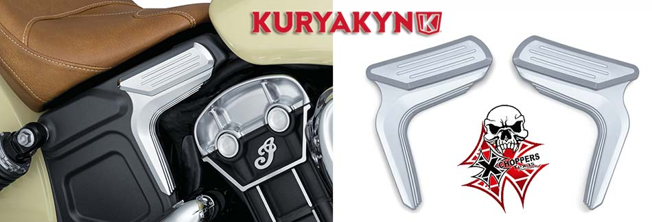 Kuryakyn Legacy Mid-Frame Accent for Indian Scout, Chrome (pr)