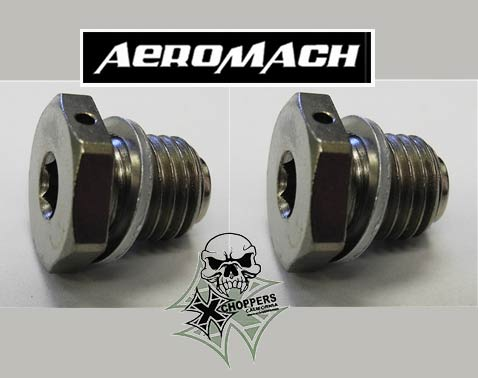 Aeromach Magnetic Drain Plugs for Indian Scout, Scout 60, Octane