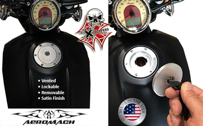 Aeromach Indian Scout Removable Gas Cap Satin