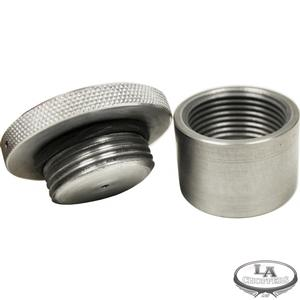 "LA Choppers Weld-On Gas Tank Insert and Gas Cap (1.5"" Thread)"