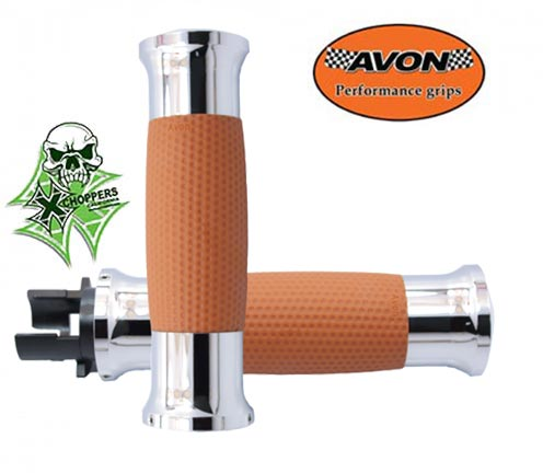Avon Indian Scout Air GEL Tan, Chrome Alloy Grips