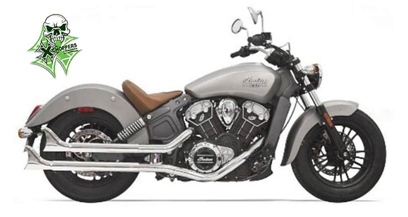 Bassani Fishtail Slip On Mufflers For Indian Scout